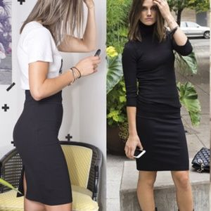 Black Ponte Pencil Skirt  NEW  Medium